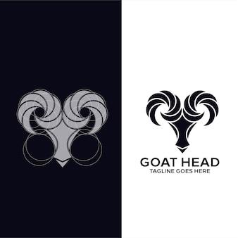 Ziegenkopf-logo-vorlage