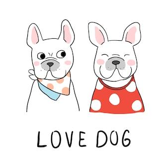 Zieh charakter süße französische bulldogge
