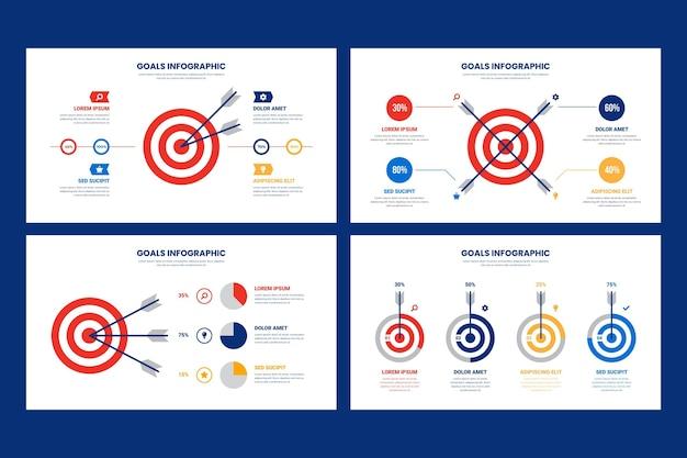 Ziele infografik design