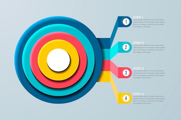 Ziele infografik geschäftskonzept