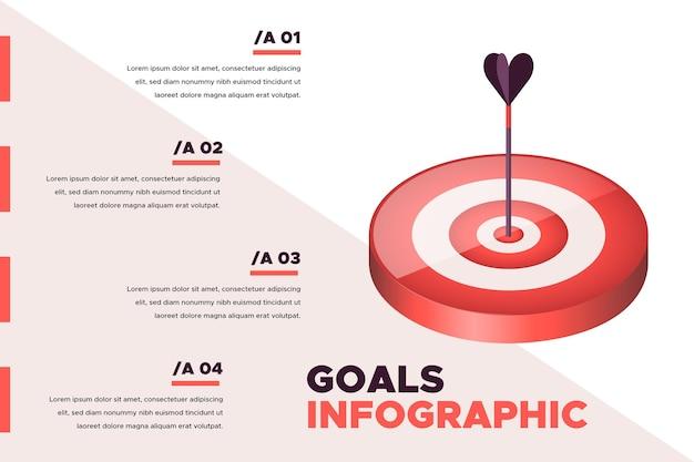 Ziele infografik-konzept