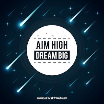 Zielen sie großen traum groß