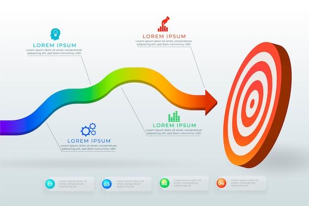 Zielgrafik mit unterschiedlichen informationen