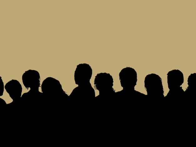 Zielgruppe silhouette