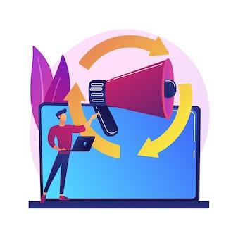 Zielgruppensuche, internetwerbung, kundenorientierung. werberichtung, werbekampagne, kundenakquise. client manager zeichentrickfigur