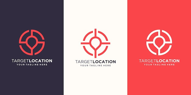 Zielort logo designs vorlage.