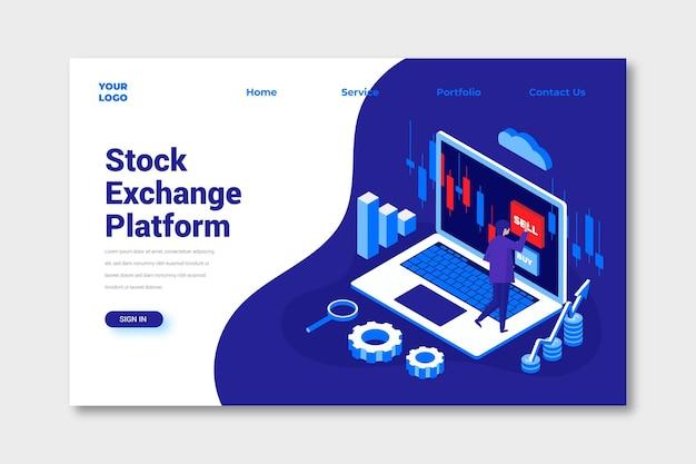 Zielseite der börsenplattform
