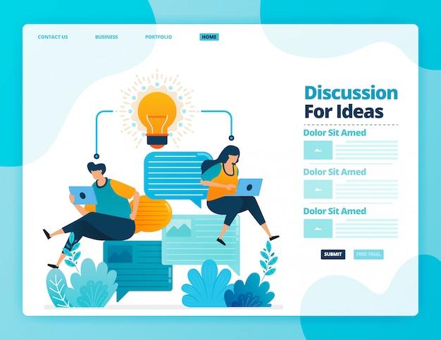 Zielseite der diskussion für ideen.