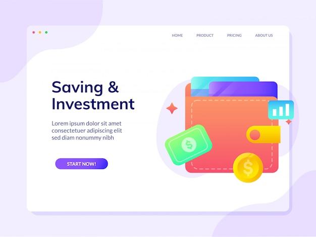 Zielseite der investitionswebsite wird gespeichert