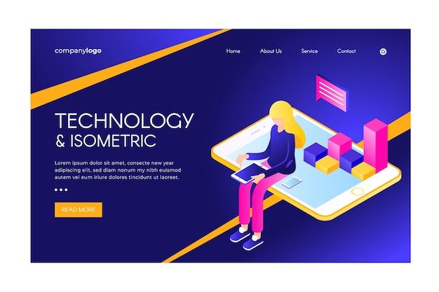 Zielseite der isometrischen technologie
