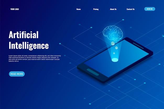 Zielseite der künstlichen intelligenz (ki)