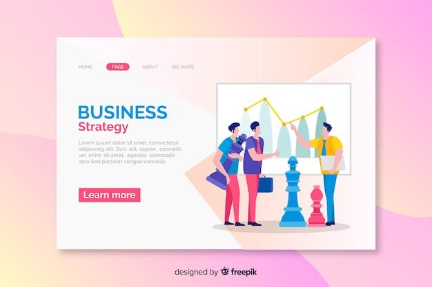Zielseite der marketing-geschäftsstrategie