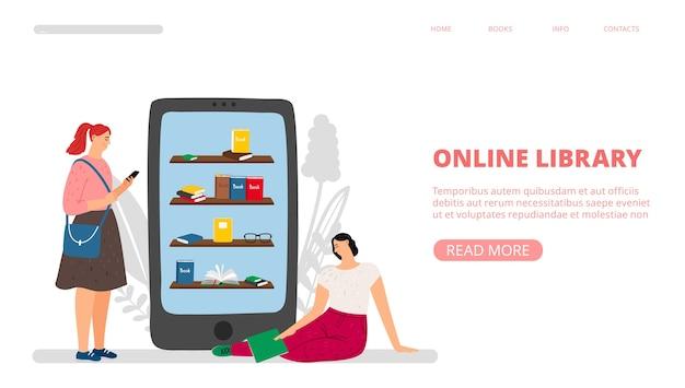 Zielseite der online-bibliothek.