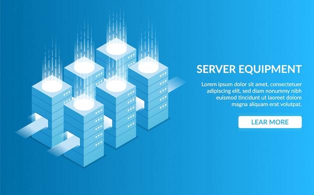 Zielseite der serverausrüstung