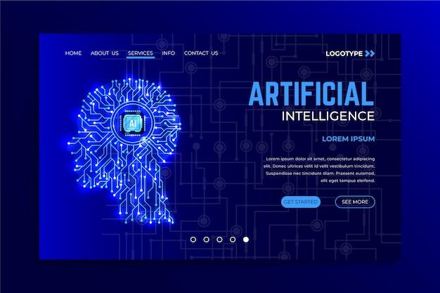Zielseite der vorlage für künstliche intelligenz