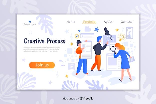 Zielseite des creative-prozesses