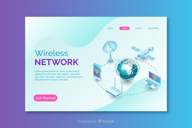Zielseite des drahtlosen netzwerks