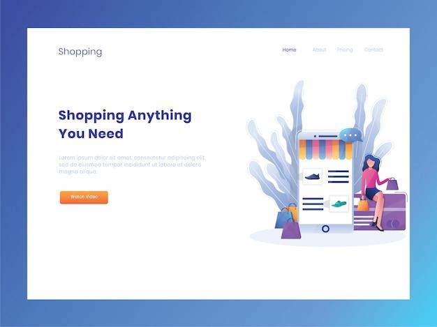 Zielseite des e-commerce-onlineshops