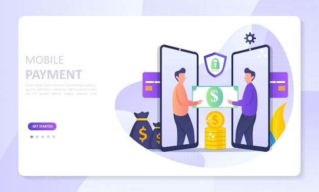 Zielseite des mobile payment-banners