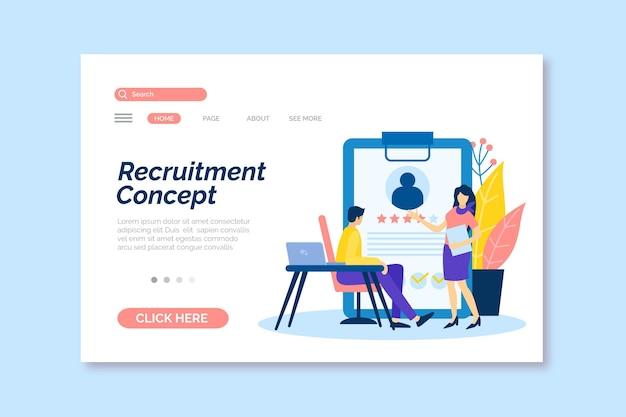 Zielseite des rekrutierungskonzepts