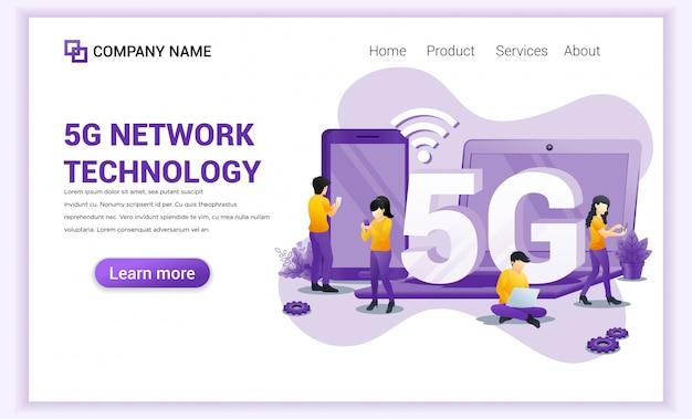 Zielseite für 5g-netzwerktechnologie