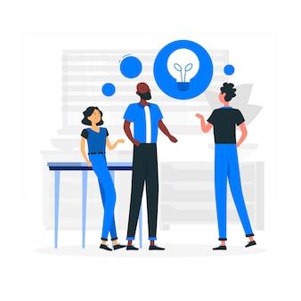 Zielseite für brainstorming-ideen