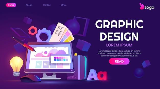 Zielseite für cartoon-grafikdesign
