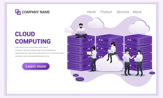 Zielseite für cloud computing