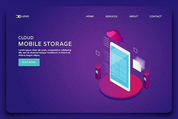 Zielseite für cloud-computing