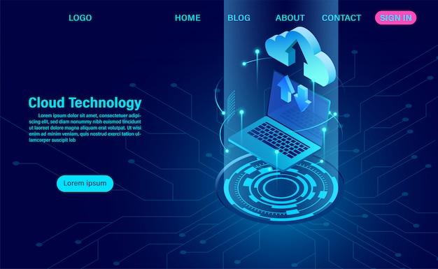 Zielseite für cloud-technologie