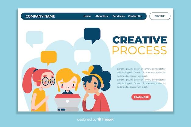 Zielseite für den creative-prozess