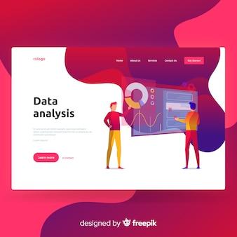Zielseite für die datenanalyse