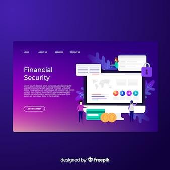 Zielseite für die finanzielle sicherheit