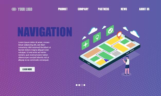 Zielseite für die online-navigation