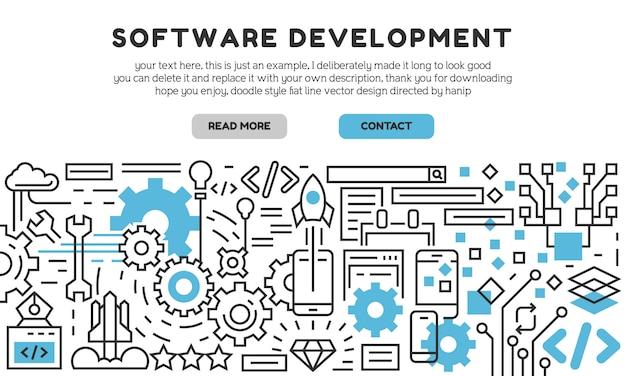 Zielseite für die softwareentwicklung