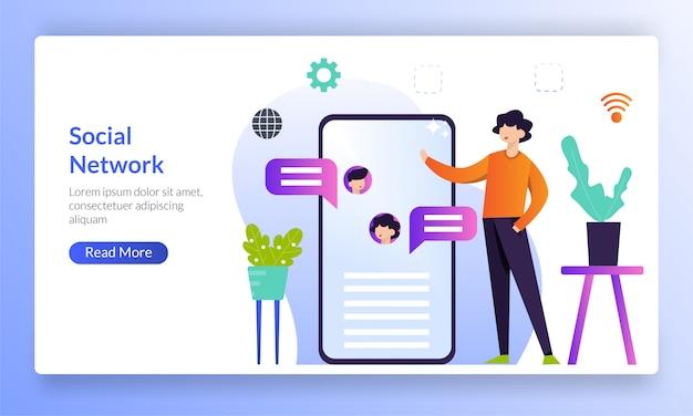 Zielseite für digitale kommunikation
