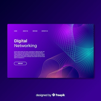 Zielseite für digitale netzwerke
