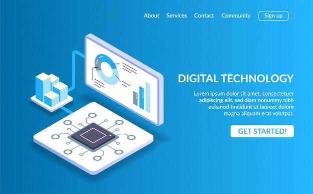 Zielseite für digitale technologie