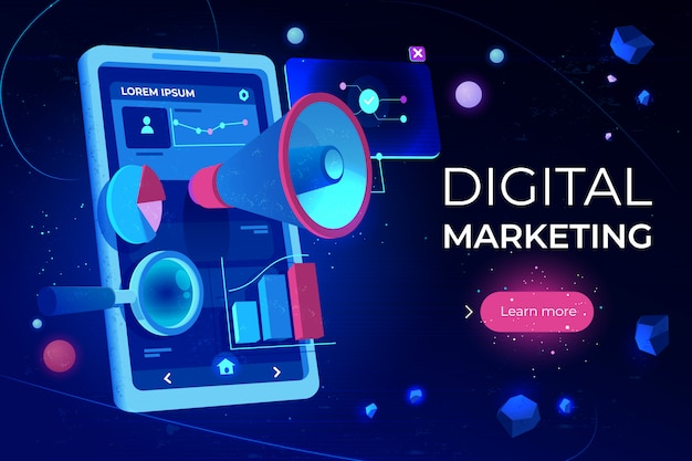 Zielseite für digitales marketing