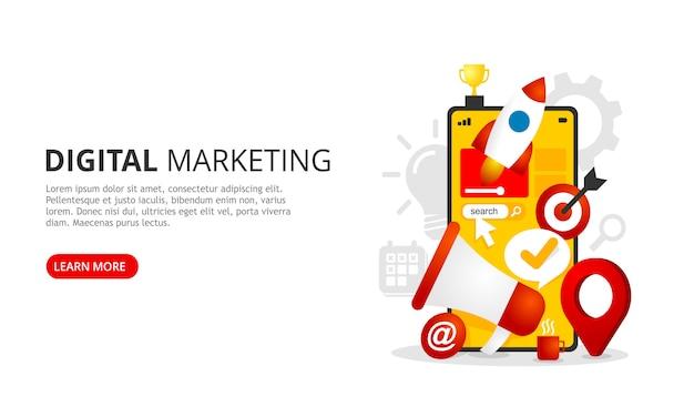 Zielseite für digitales marketing