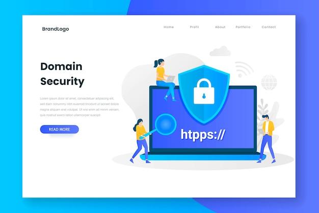Zielseite für domain-sicherheit