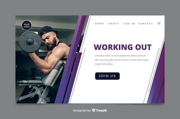 Zielseite für fitnessstudio-promotion