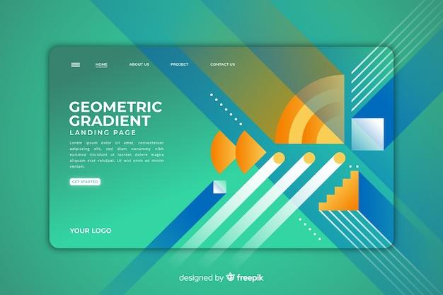 Zielseite für geometrische formen