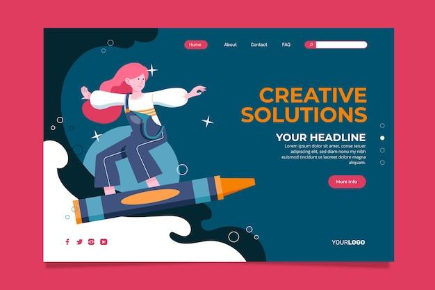 Zielseite für kreative lösungen