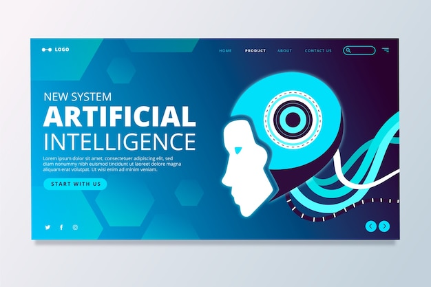 Zielseite für künstliche intelligenz