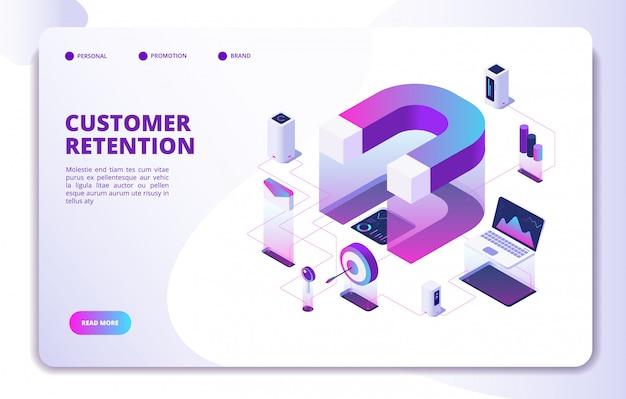 Zielseite für kundenbindung