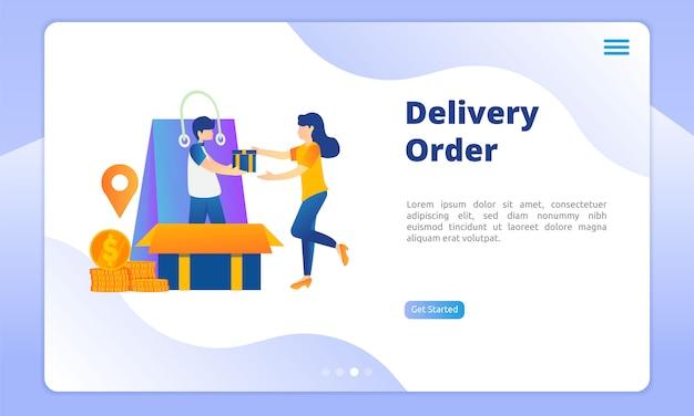 Zielseite für lieferung bestellen