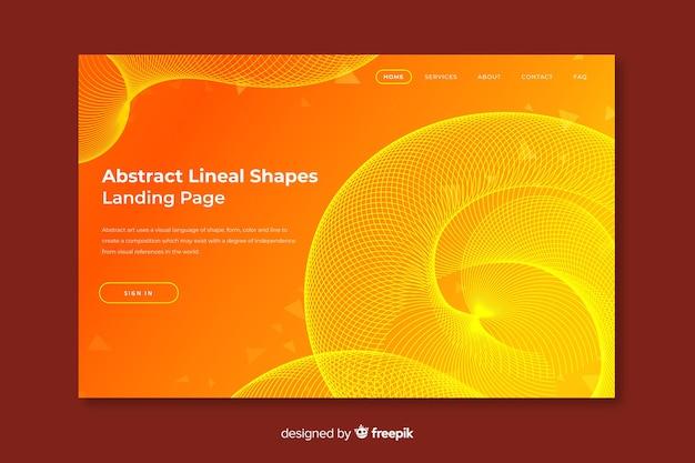 Zielseite für lineare formen