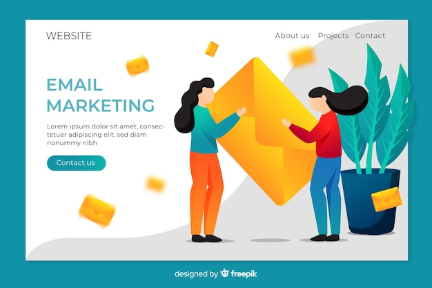 Zielseite für marketing