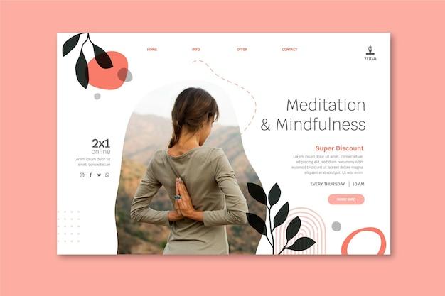 Zielseite für meditation und achtsamkeit landing